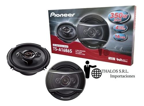 parlantes pioneer 6.5 pulgadas ts-a1686s 4 vias 350w 1686
