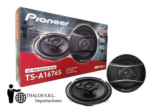 parlantes pioneer 6.5 pulgadas tsa 1676 s 3 vias 320w 1676