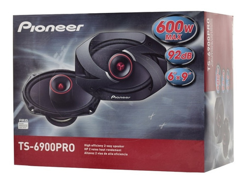 parlantes pioneer 6x9 ts 6900 pro 600w 100 rms tweeter bala !