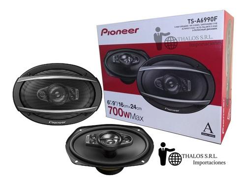parlantes pioneer 6x9 ts-a6990f 700w 6990 5 vias -thalos srl