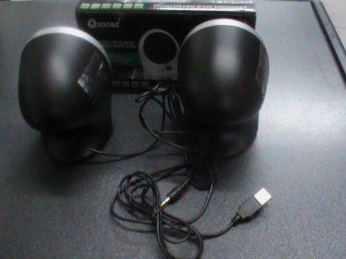 parlantes quasad 2.0 para pc y/o laptops nuevo