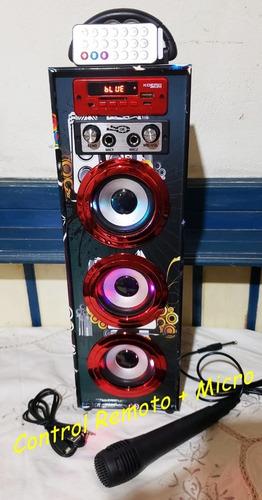 parlantes torre kosmo control remoto y micrófono!