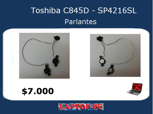 parlantes toshiba c845d sp4216sl