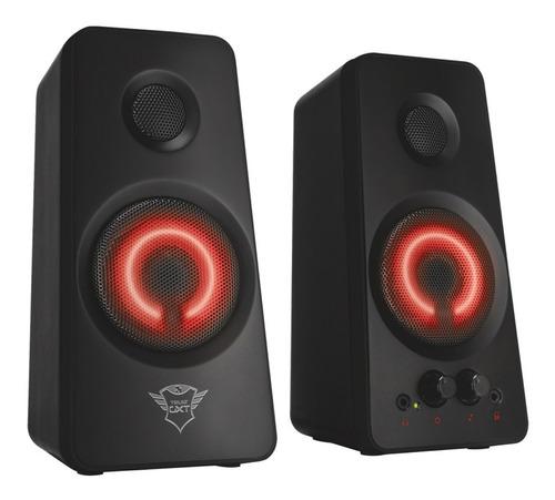 parlantes trust gxt 608 2.0 36w usb plug 3,5 luz led ctas