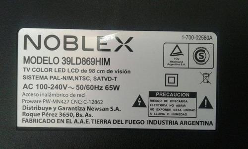 parlantes tv led noblex 39  mod. 39ld869him