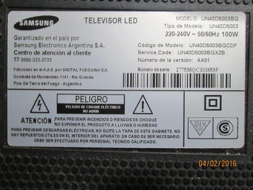 parlantes tv led samsung mod un40d5003bg