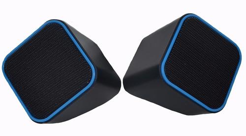 parlantes volkano de 2 fuentes color azul - el4