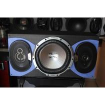 Audio Carro Bajo Parlantes Potencia Caja Oferta Sonido