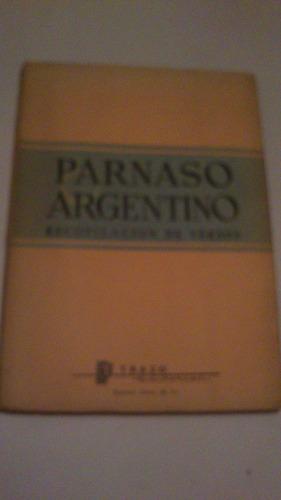parnaso argentino recopilación de versos impecable