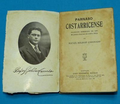parnaso costarricense rafael bolívar coronado maucci poetas