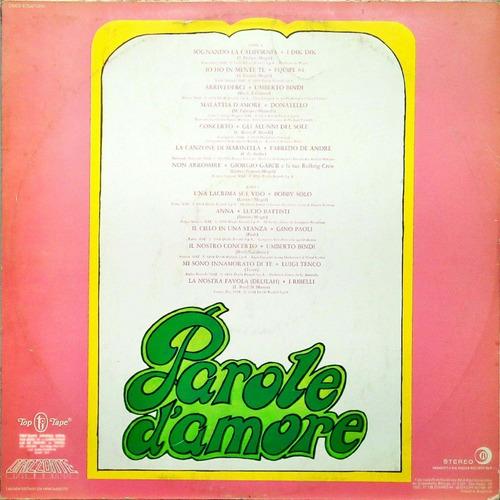 parole d' amore lp 1980 parole d' amore 14909
