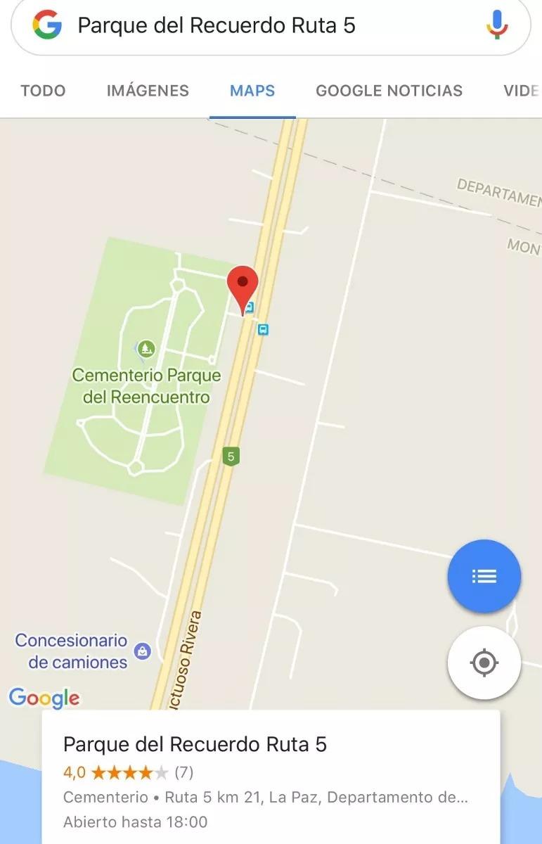 parque del recuerdo ruta 5  km 21 - 2 parcelas nuevas vendo