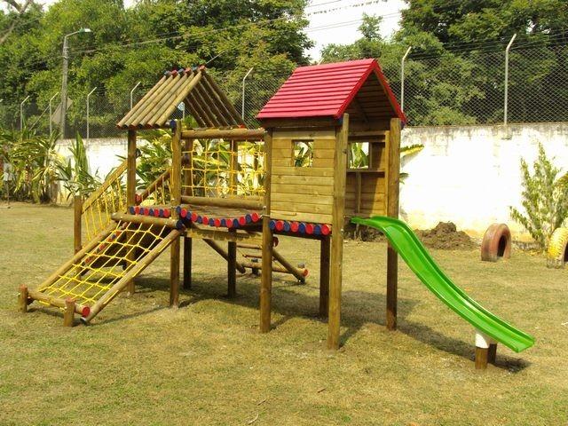 Parque infantil de madera con torre bs - Parque infantil de madera ...
