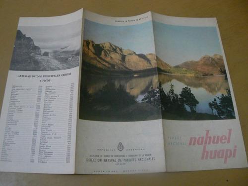 parque nacional nahuel huapi. mapa desplegable.