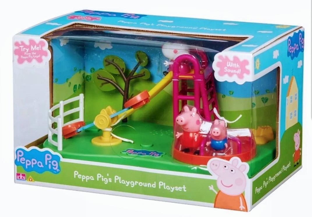 Parque Plaza Jardin Juegos Peppa Pig Playset 3 Personajes - $ 1.999,00