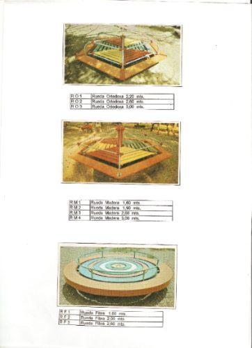 parques infantiles de madera, fibra de vidrio y metal