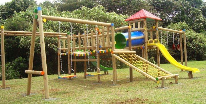 Parques infantiles en madera inmunizada 1 en mercado libre for Para desarrollar un parque ajardinado