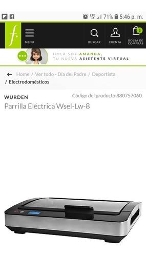 parrila electrica wurden digital nueva sellada
