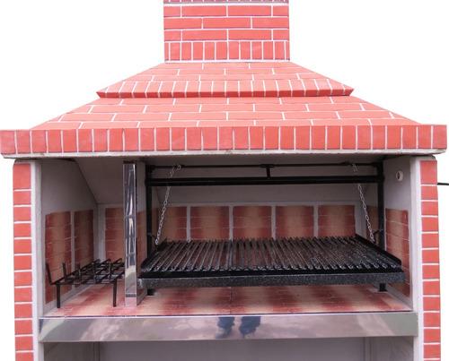 parrilla 1,60 doble piso refractario doble fondo refractario