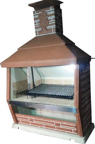 parrilla 1,80 m doble piso refractario y doble fondo refract