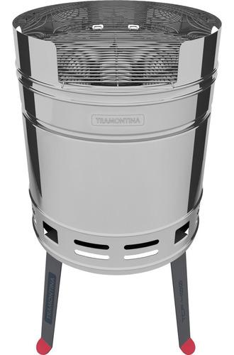 parrilla a carbon tramontina grill acero inox tcp-400 tambor
