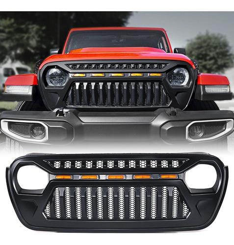 parrilla angry led jl jeep wrangler 2019/2020 enojado diente