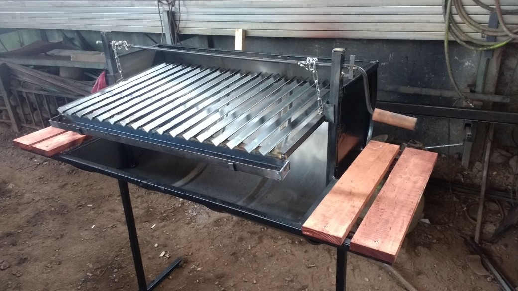 Parrilla asado tipo argentina tambor 200 lts en mercado libre - Parrillas para asar carne ...