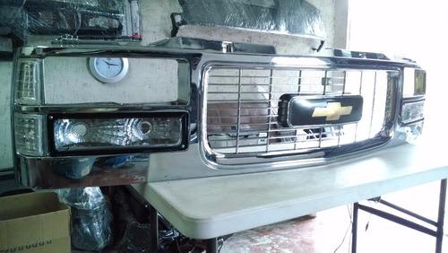 parrilla chevrolet cheyenne silverado 1988 al 1998 cromada