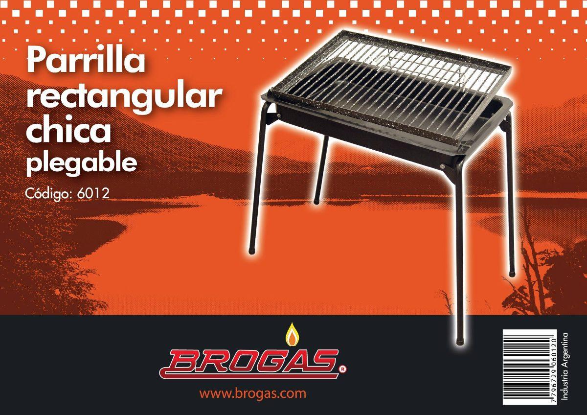 Parrilla Chica Plegable Regulable Brogas Villa Urquiza 950  # Muebles Digiano