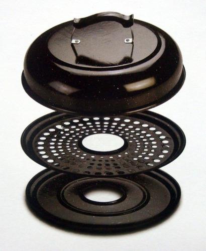 parrilla circular enlozada grande 37,5 cms
