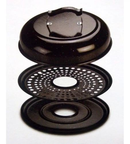 parrilla circular enlozada / parrigas 36 cm