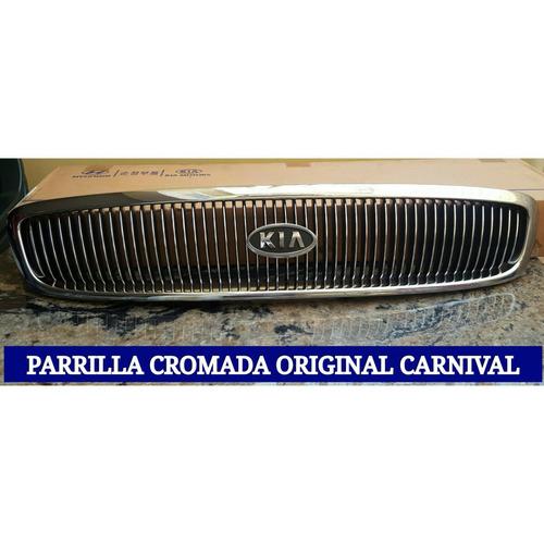 parrilla cromada original carnival