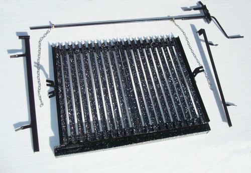 parrilla de amurar hierro angulo enlozado de 85 cm x 60 cm