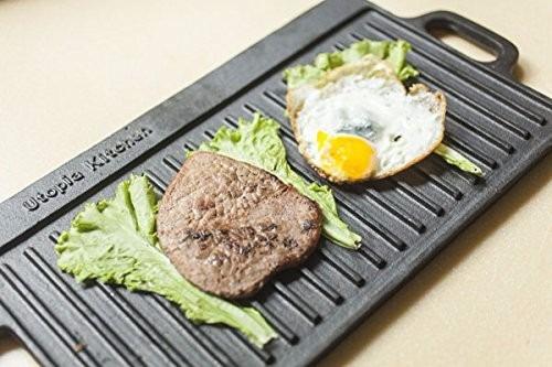 parrilla de hierro fundido utopía reversible grill plancha
