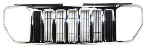 parrilla de jeep liberty 2008 - 2012 marco cromado nueva!!!