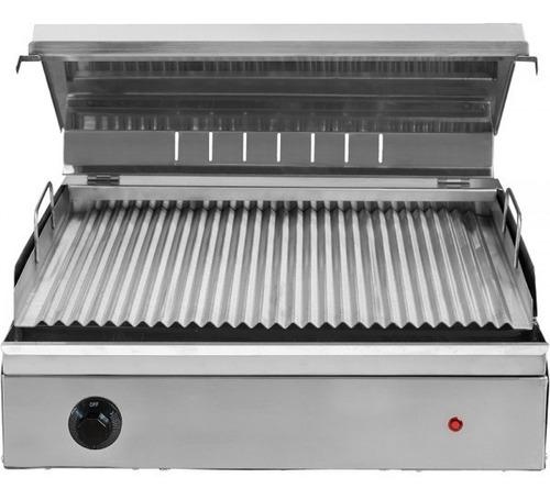 parrilla eléctrica ac.inox con tapa 50x44 - speedy grill