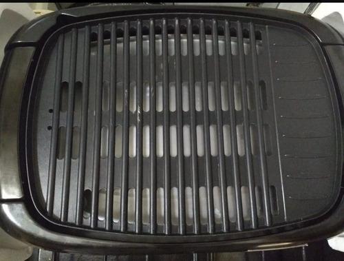 parrilla eléctrica con reg. de temperatura acero 1500w