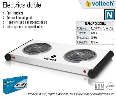 Parrilla Electrica Doble Volteck Estufa Quemadores 48127