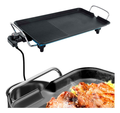 parrilla electrica grill asado antiadherente portatil 220v