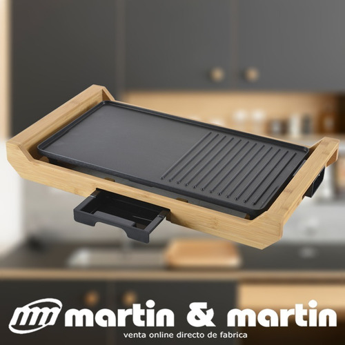 parrilla electrica grill martin & martin base bamboo