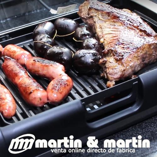 parrilla electrica grill martin & martin con tapa de vidrio