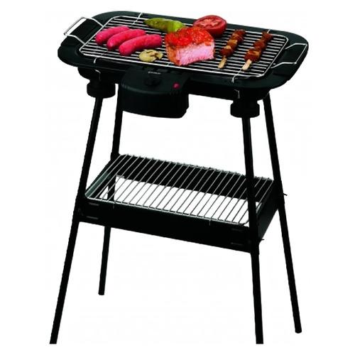 parrilla eléctrica grill plancha portátil camping con patas