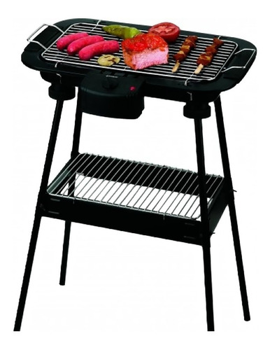 parrilla eléctrica grill portátil camping balcón + 6 cuotas