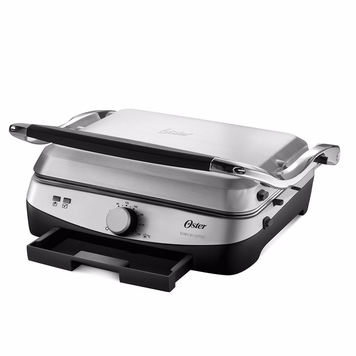 Parrilla electrica prensa plancha grill panini oster acero for Plancha electrica cocina