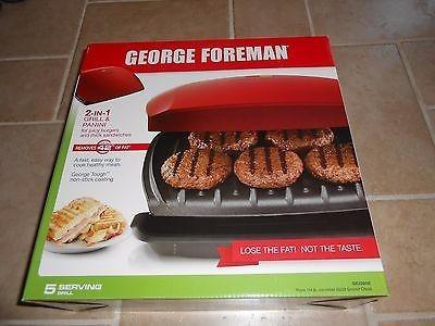 parrilla eléctrica/prensa de panini george foreman gr2080r