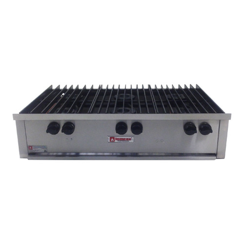 parrilla estufa sin horno ollas 6 quemadores inox 6qi xxpar