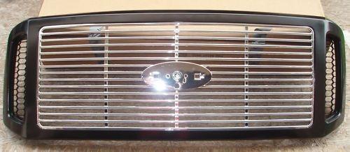 parrilla ford f250 f350 2005 - 2007 pint / filos crom