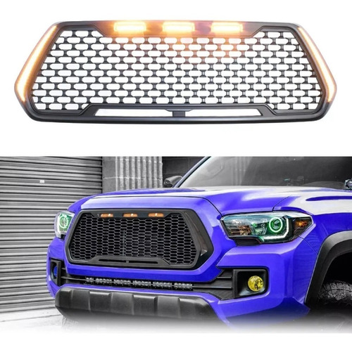 parrilla frontal toyota tacoma 2016/2019 tipo sport con led