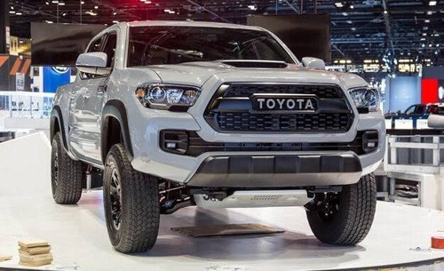 parrilla frontal toyota tacoma 2016/2019 tipo trd con led