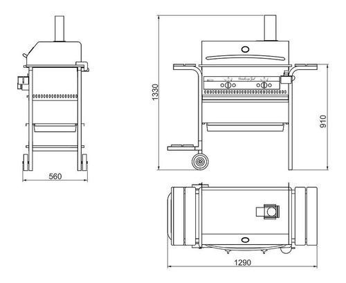 parrilla gas (parrilla, horno horno